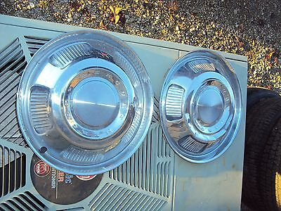 """2 USED 67 Ford Mercury Comet 14"""" Wheelcover Hubcap #C7GA-1130-A"""