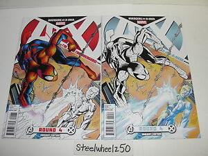 Avengers-Vs-X-Men-4-Mark-Bagley-Team-Variant-Lot-Marvel-Comics-2012-Spiderman