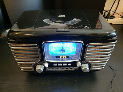Crosley Clock Radio and CD Player Model CR612 Works Perfect.