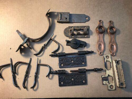 Vintage-Antique Hardware-Hinges-Hooks-Latch-Door-Other