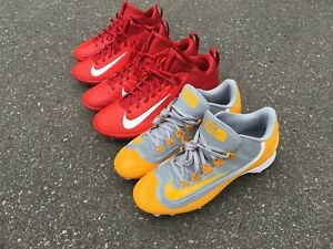 Three Pairs of Nike Baseball Cleats Sizes 9.5 10 and 12