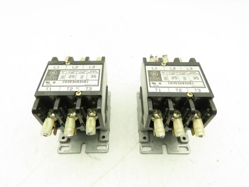 GE CR353AB3AB1 Contactor 2/3 Pole 25A 208/240V Coil  LOT OF 2
