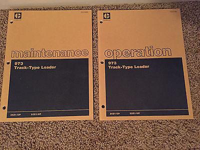 Lot Of Caterpillar Operation Maintenance 973 Track-type Loader Literature