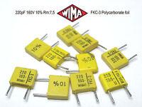 10 PCS WIMA Film Capacitor 150pF 0.15NF 5/% 160V ORIGINAL OEM