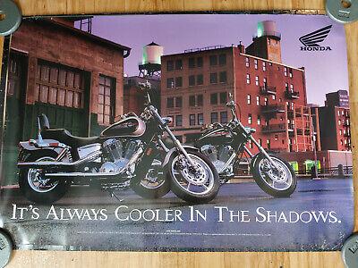 VTG 1999 HONDA SHADOW MOTORCYCLE ADVERTISEMENT POSTER