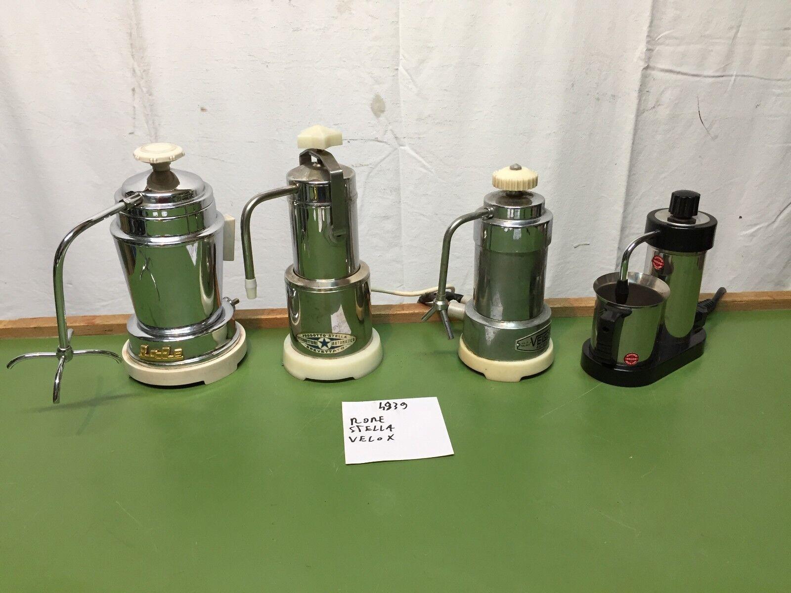 4939 MOKE ELETTRICHE VINTAGE STELLA RORE VELOX FUNZIONANTI CAFFETTIERE D'EPOCA