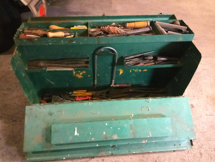 Portable tool chest with tools