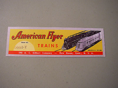 NEW ITEM! REPRO AMERICAN FLYER 5002 CIRCUS SET LABEL VERY NICE PEEL AND - Stick Flyer