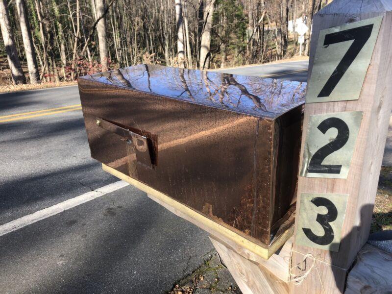 copper mailbox Handmade