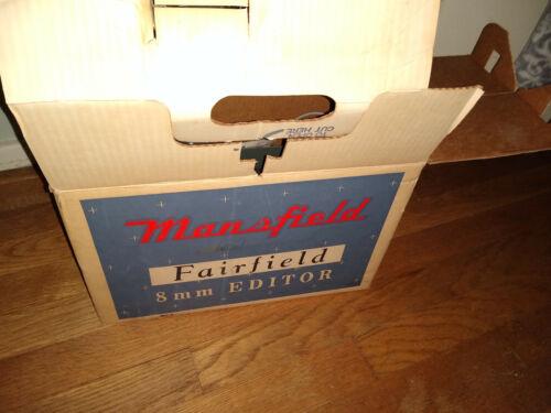 Vtg Mansfield Fairdield 8mm Film Editor NOS in Original Boxes