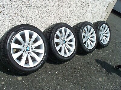 """BMW 17"""" alloy wheels with very good RUN FLAT tyres"""
