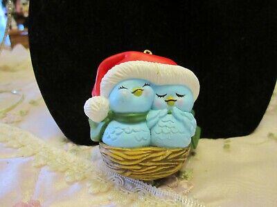 Christmas Tree Ornament Bird Bluebirds in Nest Avon ()