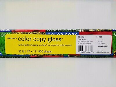 Mohawk Color Copy Gloss 11x17 Paper Case Contains 4 Reams 500 Sheets Per Ream