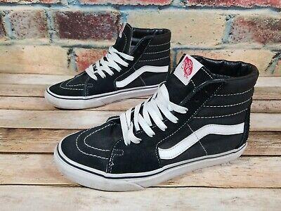 Vans Sk8 HI Old Skool Black Suede Skate Athletic Shoes Mens 8