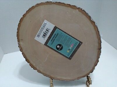 Round Wood Plaque (NEW basswood country round thick sign board plaque wood natural craft)