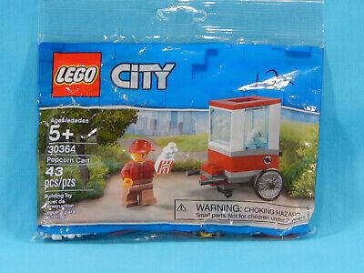 Lego City Polybag 30364 Popcorn Cart 43pcs New Sealed 2019 Marking on Bag