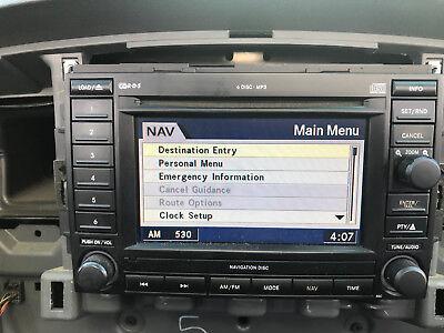 Mopar Navigation 6 Disc REC Factory Radio Rec Navigation