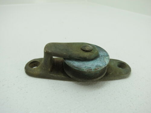 1+5/16 INCH BRONZE DECK PULLEY BLOCK BOAT SHIP BRASS BLOCK TACKLE (C4B268)