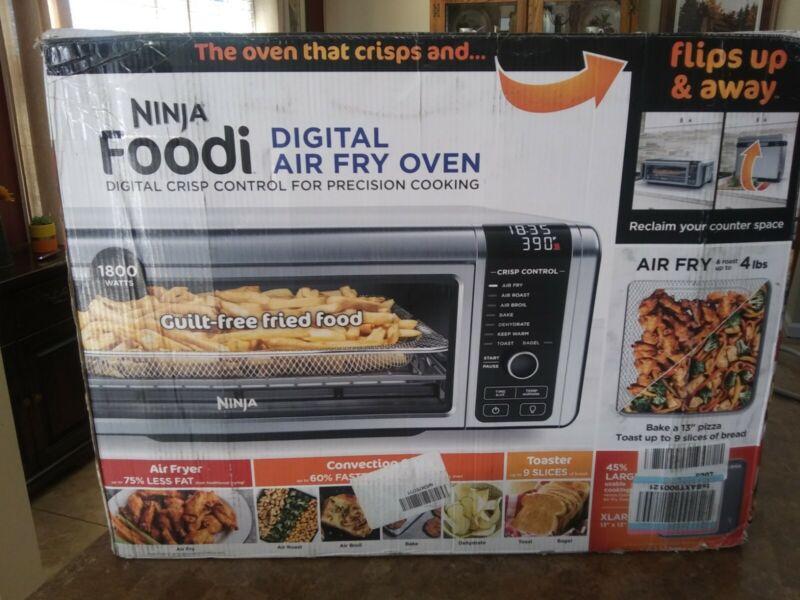 NINJA Foodi Digital Air Fry Oven Flips Up & Away SP101 NICE!