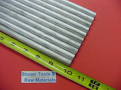 10 Pieces 12 Aluminum 6061 Round Rod 10 Long Solid .500 T651 Lathe Bar Stock