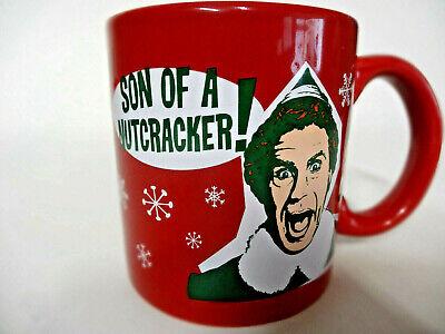 Son Of A Nutcracker Red Coffee Mug Elf Buddy Will Ferrell Christmas Movie Xmas