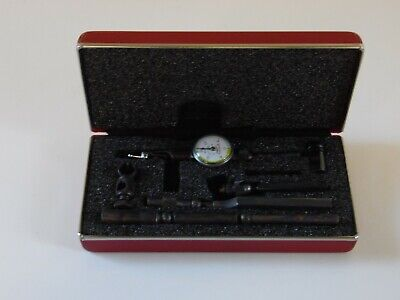 Excellent Starrett 711 Last Word Dial Indicator .0005 With Accessories And Case