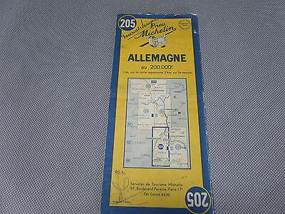 Card Michelin N°205 Germany 1952/Collector Bibendum Vintage