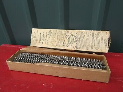 Vintage Alligator Steel Belt Lacing Size No.25 in Box Never Used
