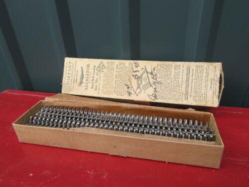 Vintage Alligator Steel Belt Lacing Size No.25 in Box Never Used