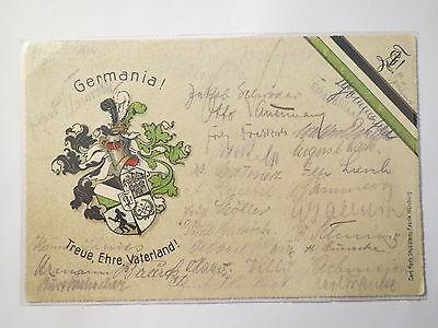Aschersleben - Verbindung Germania - Wappen mit Hexe / Studentika