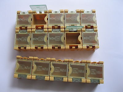 60 Yellow Smd Smt Electronic Component Mini Storage Box