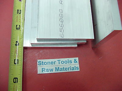 4 Pieces 14 X 4 Aluminum 6061 T6511 Flat Bar 4 Long .25 Plate Mill Stock