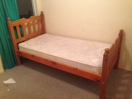 Pine single bed with free mattress  Bull Creek Melville Area Preview