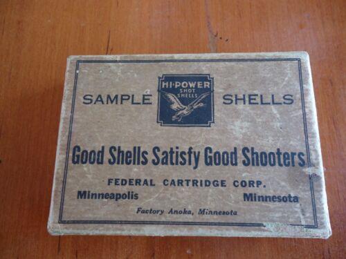 Antique RARE Shotgun Cut away Sample Box ( Only ) Hi-Power Federal Cartridge
