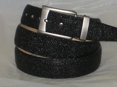 MENS GENUINE AUTHENTIC BLACK STINGRAY BELT