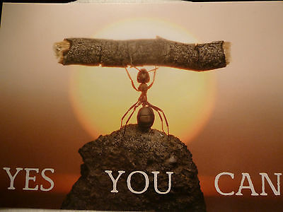 Yes you can Erfolg  Karte Motivation Postkarte spirituell VERSANDKOSTENFREI