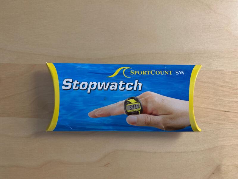 SC SPORTCOUNT Compact Stopwatch Swim Timer - Waterproof Handheld Swimming Sto...