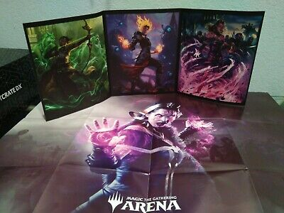 Magic The Gathering Arena Triptych Art Print And Poster With Code Loot Crate