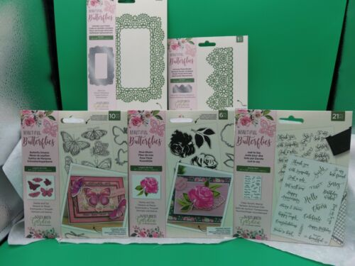Beautiful Butterflies - Nature Garden by Crafters Companion Stamps or Stamps and