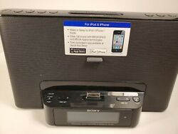 Sony iPhone / iPod Clock Radio Speaker Dock ICF-CS15iP Dream Machine Sleep Alarm