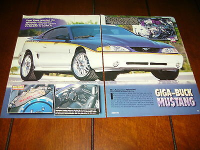 1995 FORD MUSTANG COBRA SVT SUPERCHARGED  ***ORIGINAL 1998 ARTICLE***