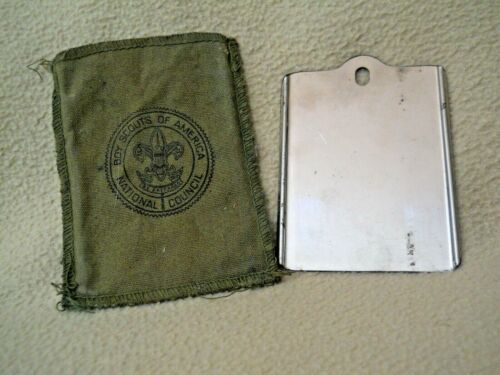 Vintage Boy Scouts of America Mirrored Signaling Device with Case