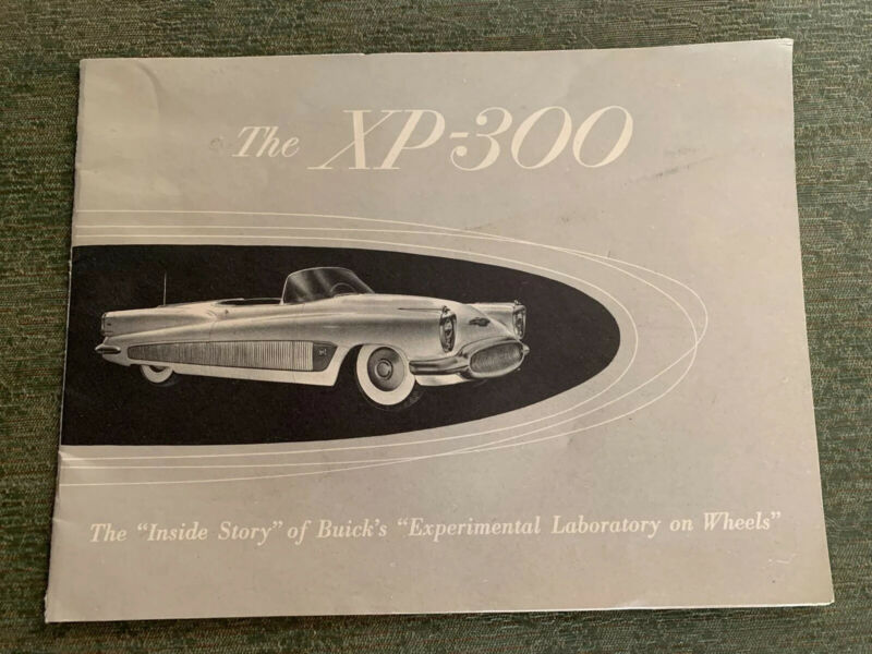 Vintage 1950's Buick XP-300 Experimental Car Booklet