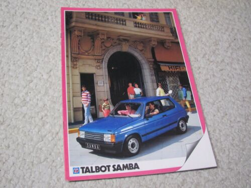 1983 TALBOT SAMBA (FRANCE) SALES BROCHURE.....