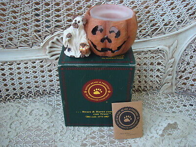 BOYDS GHOULIA BOOBEAR SPOOKY TREATS HALLOWEEN CANDLE HOLDER RETIRED *NEW IN BOX*