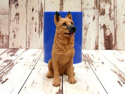 """German Shepherd Dog"" silicone mold for soap and candles making mould molds"