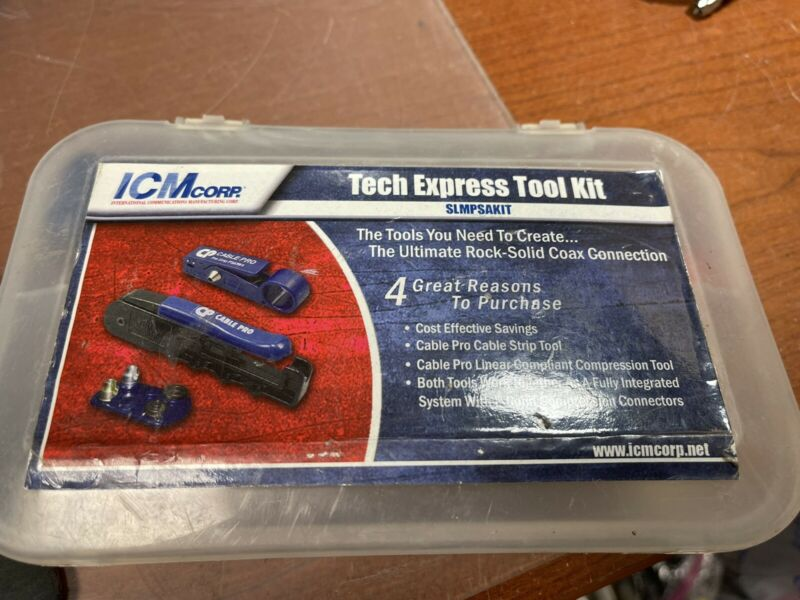 ICM Corp. Tech Express Tool Kit SLMPSAKIT COAX CABLE CONNECTIONS