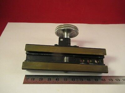 Leitz Germany Pol Stage Micrometer Microscope Part As Pictured Ft-4-78