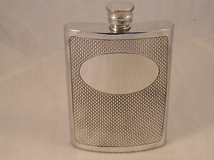 6oz-PEWTER-HIP-FLASK-WITH-A-BARLEY-PATTERN