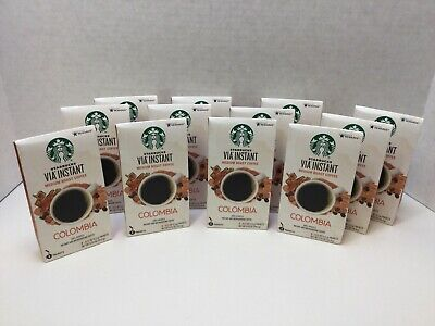 STARBUCKS VIA COLOMBIA Instant Medium Roast Coffee 96 Count MAY/2021